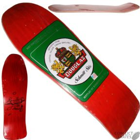 "SCHMITT STIX ""Beer Label"" Steve Douglas Skateboard Deck 9.9"" x 31"" RED / GREEN"